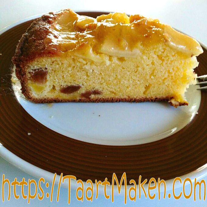 Appelcake met rozijnen