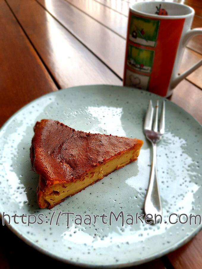 Baskische plattekaastaart te koud gebakken