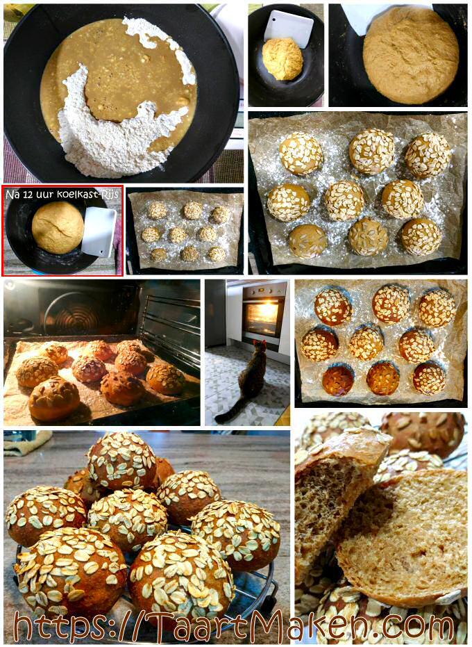 Hoe bruine broodjes bakken met koelkastrijs