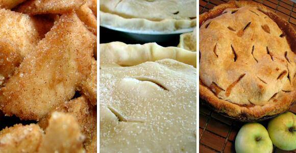 Makkelijke appeltaart maken met een taartvulling van appels en suiker, gebakken in een taartvorm tussen 2 vellen bladerdeeg
