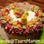 Lekkere Paastaart uit de Workshop Taarten Maken van Jolanda's Bakhuisje